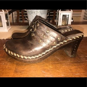 Frye Distressed Clogs